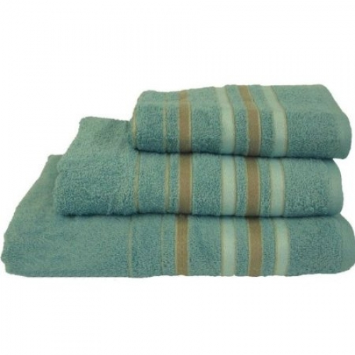Towel Catherine Lansfield Java Stripe 450gsm Duck Egg Hand