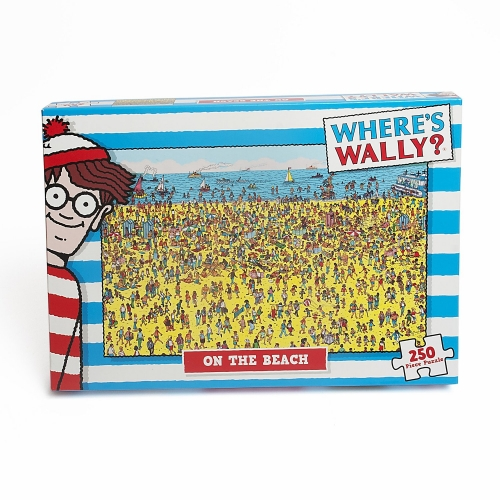 Where'S Wally ' on The Beach' 250 Piece Jigsaw Puzzle Game