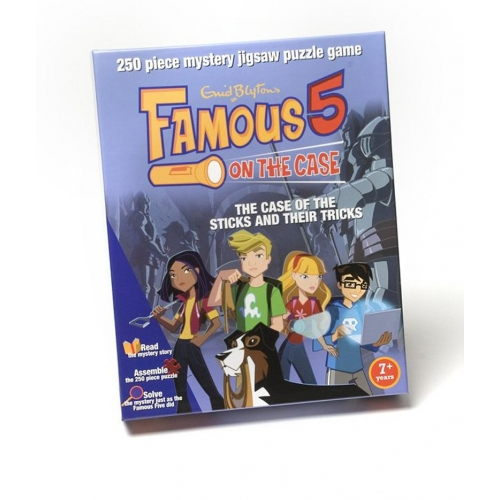 Famous 5 on The Case 'Sticks and Their Tricks' Mystery 250 Piece Jigsaw Puzzle Game