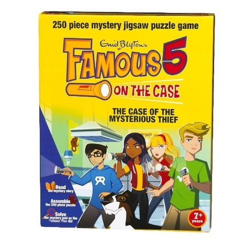 Famous 5 on The Case 'The Mysterious Thief' Mystery 250 Piece Jigsaw Puzzle Game