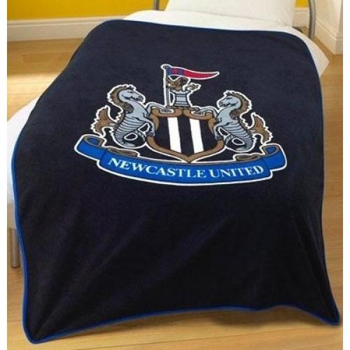 Newcastle Fc Black Football Panel Official Fleece Blanket Throw