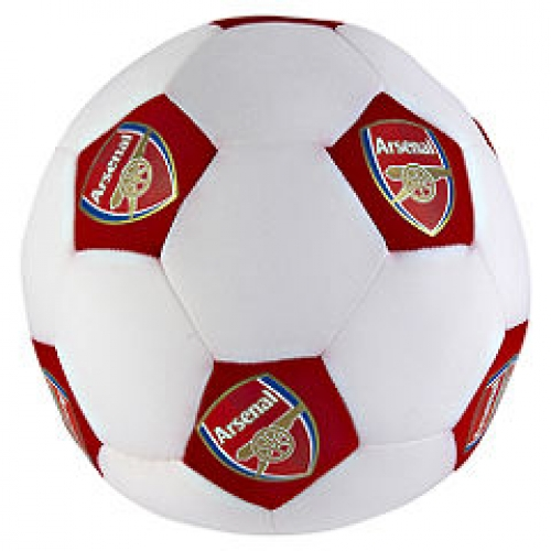 Arsenal Fc Football Shaped Cushion Official