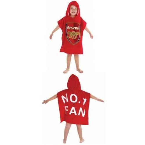 Arsenal No.1 Fan Fc Football Official Poncho Towel