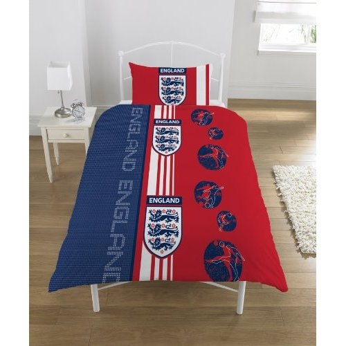 England Scoreboard Red Fc Football Rotary Official Single Bed Duvet Quilt Cover Set