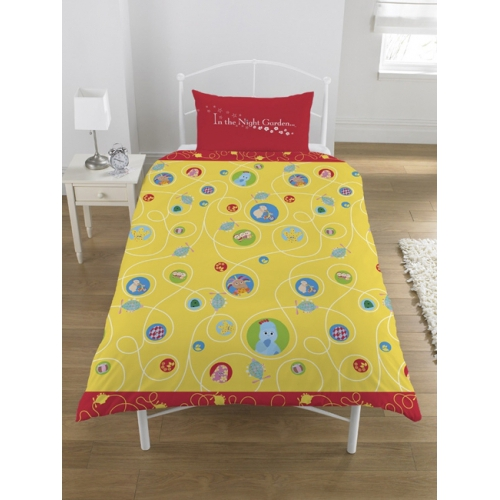 In The Night Garden Rotary Single Bed Duvet Quilt Cover Set
