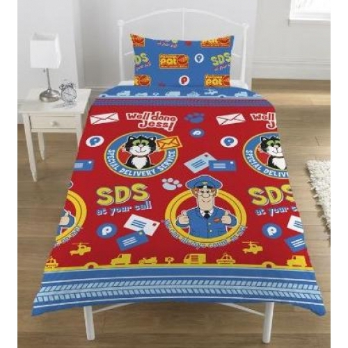 Postman Pat Rotary Single Bed Duvet Quilt Cover Set
