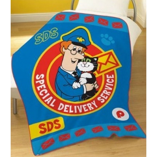 Postman Pat Panel Fleece Blanket Throw