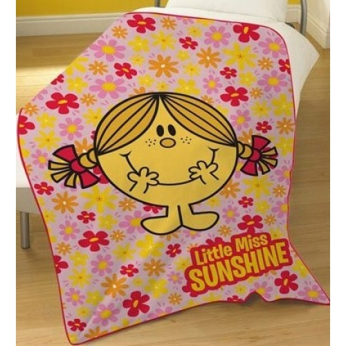 Little Miss Sunshine Panel Fleece Blanket Throw