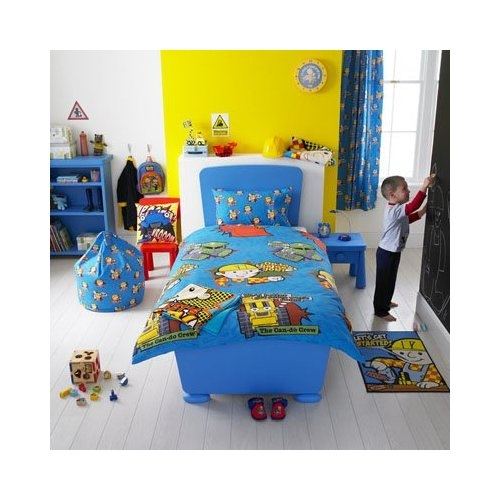 Bob The Builder Crew Rotary Single Bed Duvet Quilt Cover Set