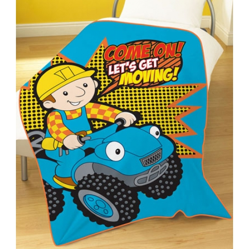 Bob The Builder Panel Fleece Blanket Throw