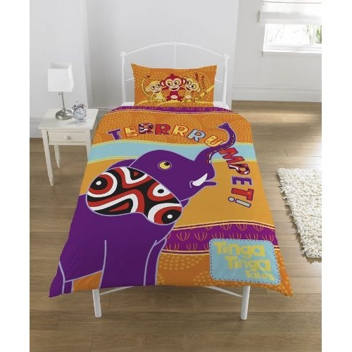 Tinga Tale 'Trumpet' Panel Single Bed Duvet Quilt Cover Set