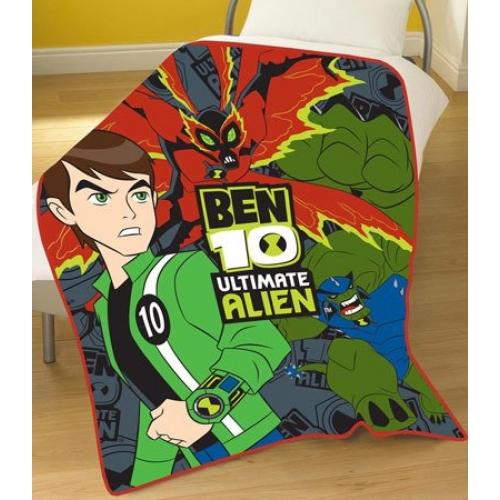 Ben 10 Ultimate Alien Blanket Panel Fleece Throw