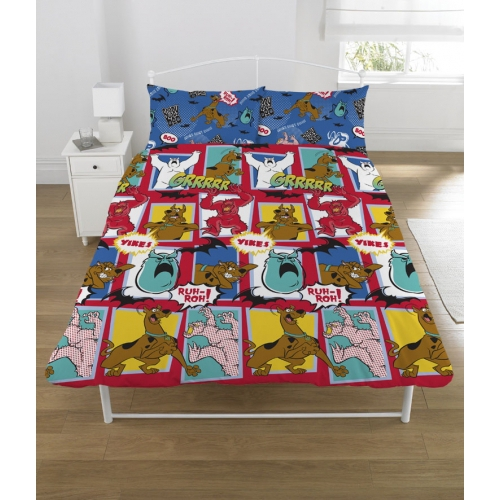 Scooby Doo 'Monsters' Rotary Double Bed Duvet Quilt Cover Set
