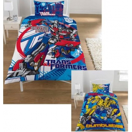 Transformers 3 'Bumblebee Optimus Prime' Reversible Panel Single Bed Duvet Quilt Cover Set