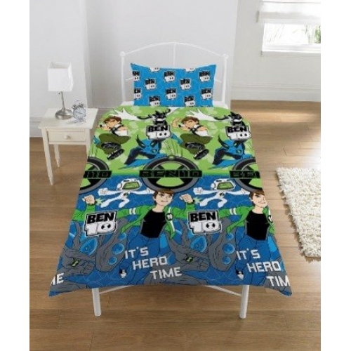 Ben 10 'Universe Hero Time' Rotary Single Bed Duvet Quilt Cover Set