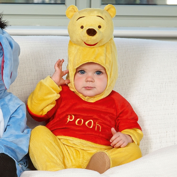 Disney Winnie The Pooh with Moulded Head 6-12 Months All In One Romper