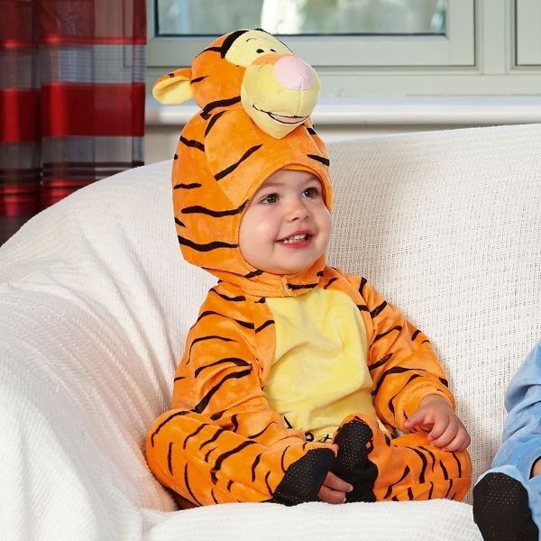 Disney Winnie The Pooh 'Tigger' with Moulded Head 6-12 Months All In One Romper