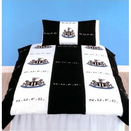 Newcastle United Fc Football Rotary Official Single Bed Duvet Quilt Cover Set