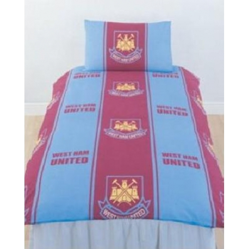 West Ham United Fc Football Rotary Official Single Bed Duvet Quilt Cover Set