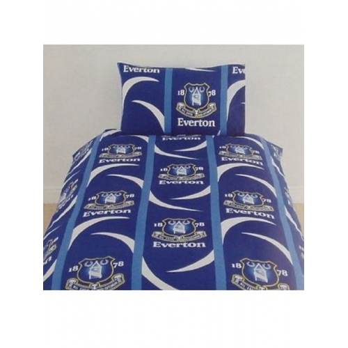 Everton Qcs Fc Football Rotary Official Single Bed Duvet Quilt Cover Set