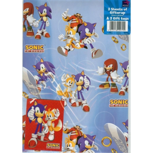 Sonic The Hedgehog Gift Wrap Decoration