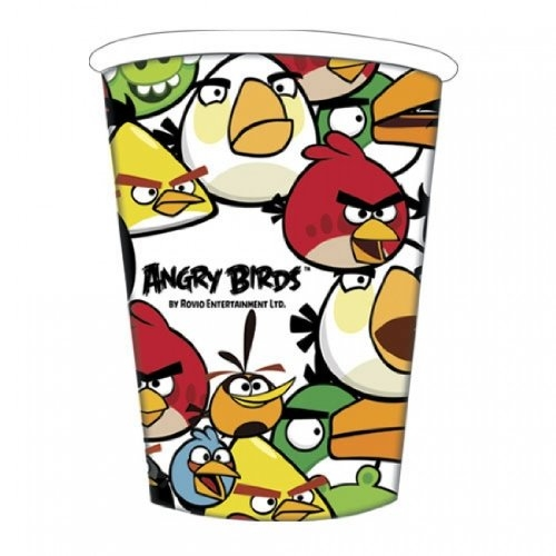 Angry Birds 8 Pack Hot & Cold 260ml Cups Party Accessories