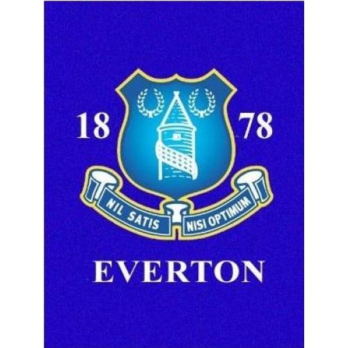 Everton Fc Football Panel Official Fleece Blanket Throw