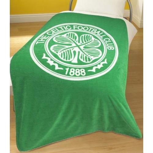 Celtic Fc Football Panel Official Fleece Blanket Throw