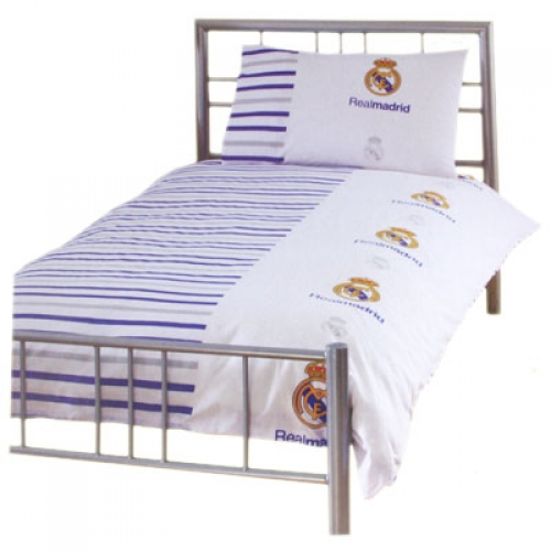 Real Madrid Fc Football Rotary Official Single Bed Duvet Quilt Cover Set