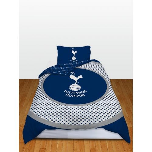 Tottenham Hotspur Fc 'Bullseye' Football Panel Official Single Bed Duvet Quilt Cover Set