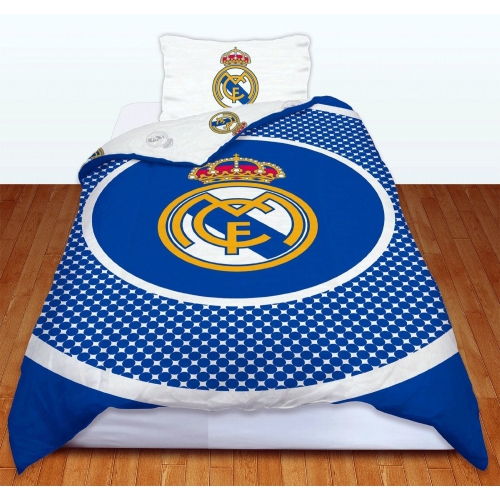Real Madrid Fc 'Bullseye' Football Panel Official Single Bed Duvet Quilt Cover Set