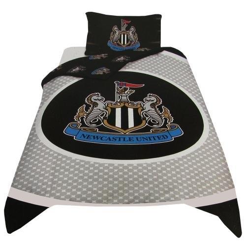 Newcastle United Fc ' Bullseye Football Panel Official Single Bed Duvet Quilt Cover Set