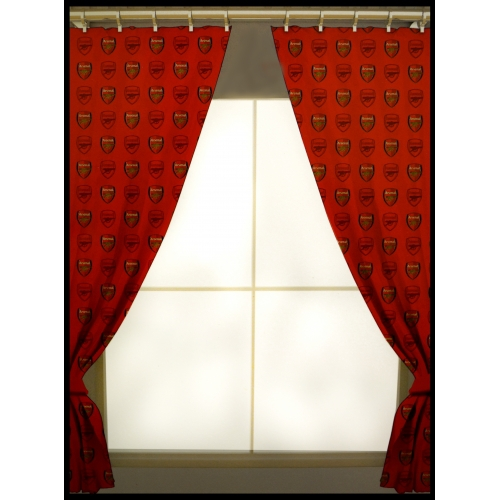 Arsenal Fc Football Repeat Crest Official 72 inch Curtain Pair