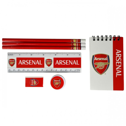 Arsenal Fc 'Wordmark' Stationery Set Football Official