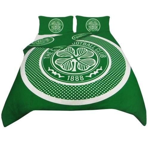 Celtic Fc ' Bullseye Football Panel Official Double Bed Duvet Quilt Cover Set