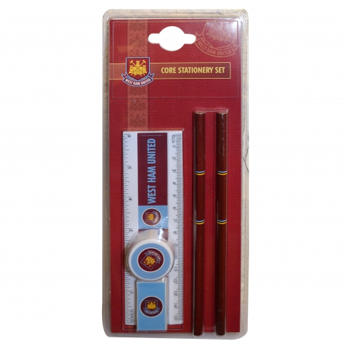 West Ham United Fc 'Core' Stationery Set Football Official