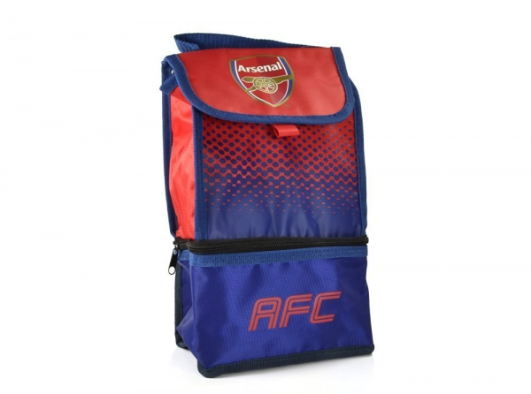 Arsenal Fc 'Fade' Dual Compartment Football Premium Lunch Bag Official