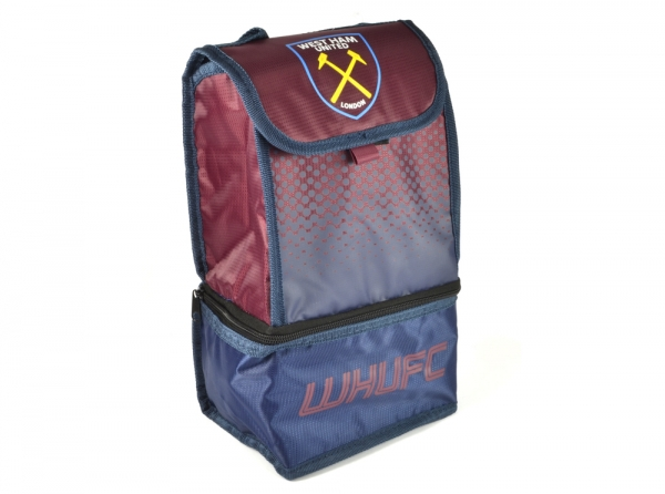 West Ham United Fc 'Fade' Dual Compartment Football Premium Lunch Bag Official