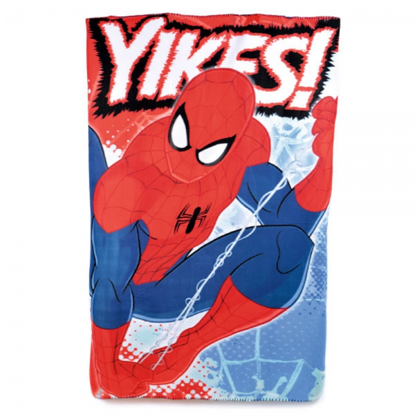 Spiderman Yikes Panel Fleece Blanket Throw