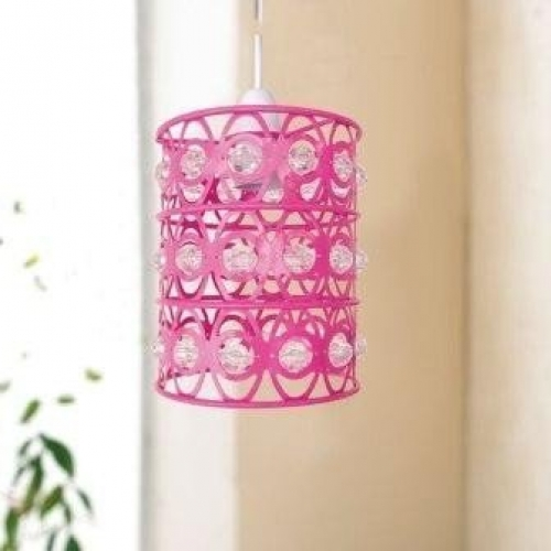Easy Fit Crystal Light Decorations Pink Chandelier