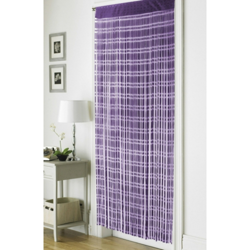 ... Jacquard Plum u0027Stringu0027 Door Curtain  sc 1 st  Linen Ideas ltd & Door strings / screens