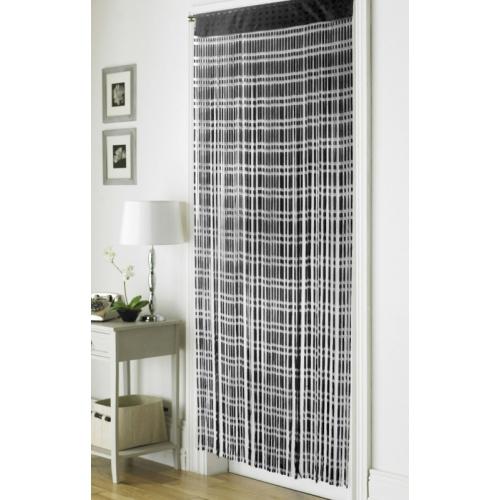 Jacquard Black 'String' Door Curtain
