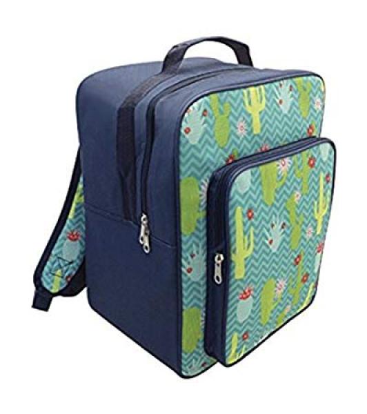 Alfresco Cactus Insulated Cooler Bag School Rucksack Backpack