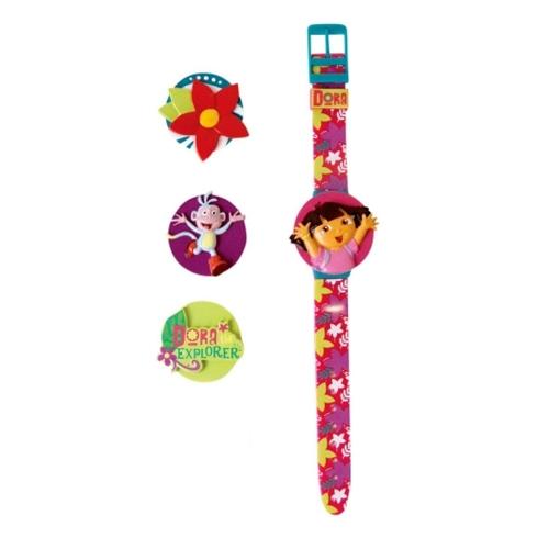 Dora The Explorer 'Interchangeable Head' Wrist Watch