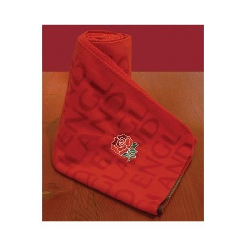 England Rugby Fc Panel Official Fleece Blanket Throw