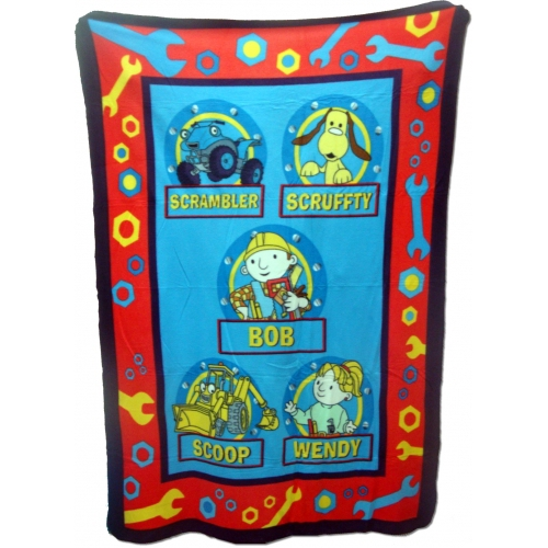 Bob The Builder Rotary Fleece Blanket Throw