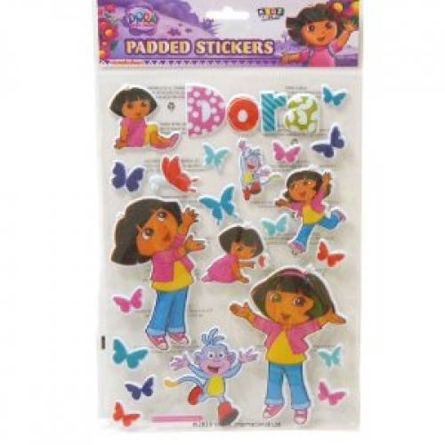 Dora The Explorer Padded Sticker Wall Decoration