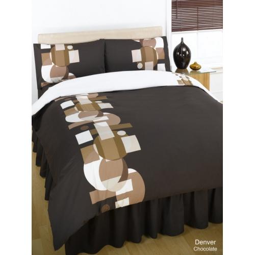 Denver Chocolate Half Set Bedding Single Duvet Cover