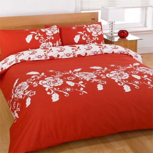 Kensington Red Half Set Bedding Single Duvet Cover
