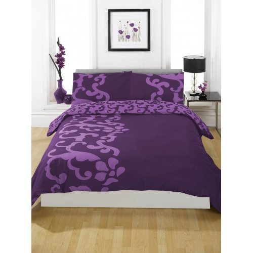 Chelsea Aubergine Half Set Bedding King Duvet Cover